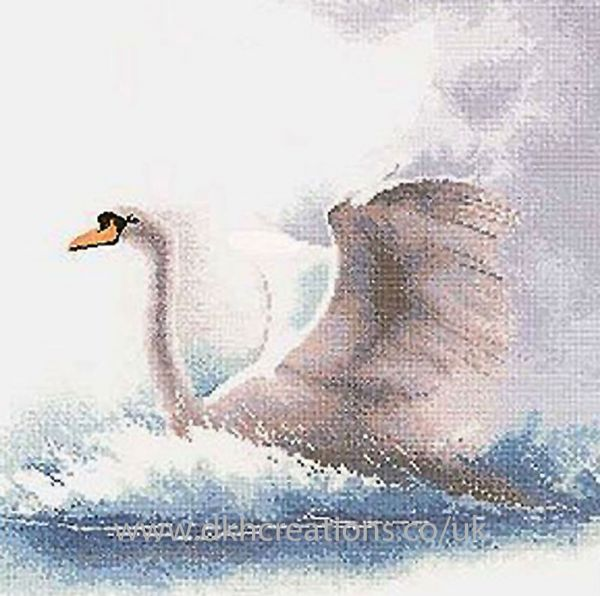 Swan In Flight Cross Stitch Kit